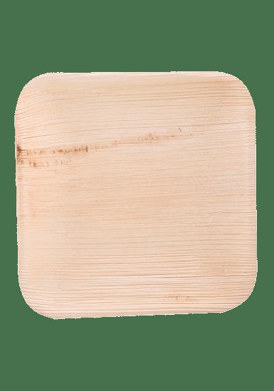 Биоразлагаемая тарелка из пальмовых листьев